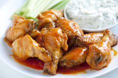 Easy Baked Chicken Hot Wings Technique from www.inspiredtaste.net #recipe ...