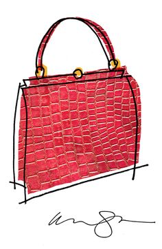 Red Alligator purse copyright Alanna Cavanagh 2015 #illustration #fashion #style