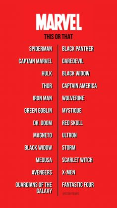 Introduce Villain Whose Main Ability Is Disgusting Chewing Sounds Captain Marvel, Marvel Avengers, Marvel Instagram, Scarlet Witch Avengers, Instagram Story Questions, Movie To Watch List, Fun Questions To Ask, Film Disney, Things To Do When Bored