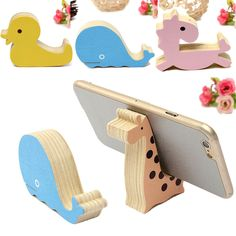 Mini Cute Animal Wood Desk Table Stand Holder For iPhone 6/Plus/5S/5 Samsung HTC #UnbrandedGeneric