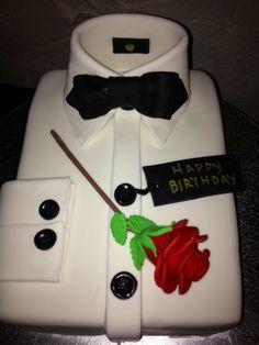 Tuxedo Shirt Birthday Cake
