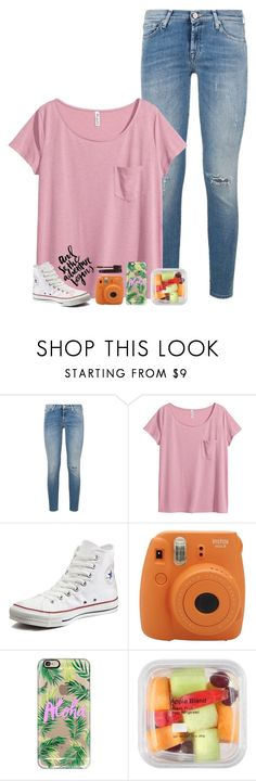 """""""just met the cutest kittens"""" by beingrach ❤ liked on Polyvore featuring 7 For All Mankind, H&M, Converse, Fujifilm, Casetify, PAM and Laura Mercier"""