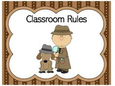 Classroom Rules Detective | Detective Theme | Detective Class Rules Here's a great set of DETECTIVE THEME classroom rules posters for the early elementary classroom. Ready to print and laminate for your detective themed classroom! ❤ CLICK HERE TO FOLLOW GREEN APPLE LESSONS! Class Rules Poster, Classroom Rules Poster, Classroom Walls, Classroom Themes, Mission Impossible Theme, Detective Theme, Mission Possible, Sign Language Alphabet, Special Agent