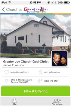Greater Joy Church of God in Christ in Tacoma, WA #GivelifyChurches
