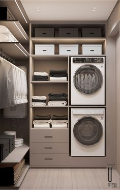 Modern Laundry Rooms, Laundry Room Layouts, Laundry Room Organization, Laundry Room Design, Home Room Design, Dream Home Design, Home Interior Design, Laundry Room Decals, Laundry Room Inspiration