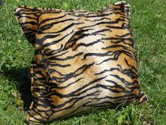 A personal favorite from my Etsy shop https://www.etsy.com/listing/235723147/tiger-print-pillow