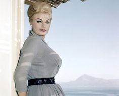 """Anita Ekberg~Swedish-born actress and sex-symbol of the and who was immortalized bathing in the Trevi fountain in """"La Dolce Vita,"""" has died. Anita Ekberg, Rome, Diana Dors, Swedish Actresses, Celebrity Deaths, Golden Hair, Musa, Marianne, Film"""