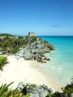 Strand & Maya Ruine in Tulum, Yucatan, Mexiko / Artikel im Reiseblog: 10 Traumstrände zum Wegträumen