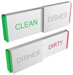 Amazon.com: Glide Signs DISHWASHER Magnet CLEAN DIRTY Sign Indicator Elegant Aluminum New Kitchen Gadgets for Dishes Cleaning Home Organizer and Dish Washer Magnetic or Adhesive Backing Works on ALL Dishwashers: Storage & Organization