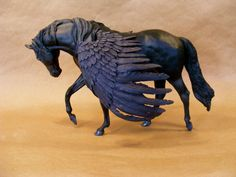 Breyer Custom/Cm OOAK Fantasy Pegasus Stallion Horse - Love the wings on this
