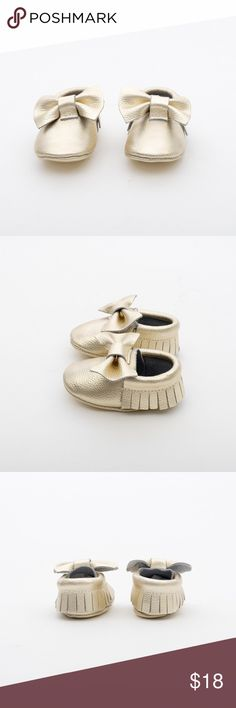 MAC&LOU BOW BABY LEATHER MOCCASINS GOLD RUSH MAC&LOU BOW BABY LEATHER MOCCASINS GOLD RUSH MAC&LOU Shoes Moccasins