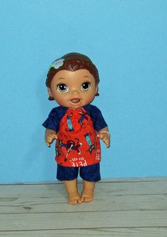 Baby a Live Baby Alive Doll Clothes, Boy Doll Clothes, Baby Alive Dolls, All The Way Down, Rocking Chair, Lily, Cats, Sweet, Fabric