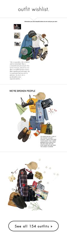 """outfit wishlist."" by freezeyourbrains on Polyvore featuring Moleskine, Jag, DSPTCH, Converse, Cutler and Gross, Topshop, kangol, International, Dr. Martens and DK"