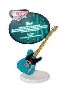 Porta Menú de resina temática: Rock and Roll