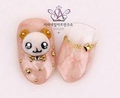 Korean cute bear nail art - Nail Art