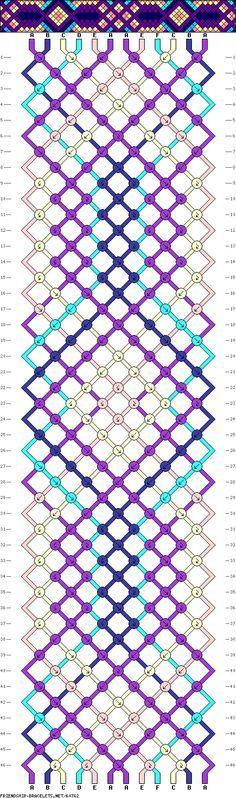 Interlocking Diamond Friendship Bracelet, maybe to try with beads? Diamond Friendship Bracelet, Making Friendship Bracelets, Diy Friendship Bracelets Patterns, Diamond Bracelets, Kumihimo Bracelet, Yarn Bracelets, Handmade Bracelets, Bangles, Macrame Patterns