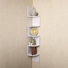 Corner Shelf White Laminate unit 5 Tier Large Corner Wall Mount Shelf > New and awesome product awaits you, Read it now : Corner Shelves Large Corner Shelf, Wall Mounted Corner Shelves, Glass Shelves, Shelf Wall, Corner Shelving, Corner Storage, Crystal Shelves, Wall Shelving, Shelving Ideas