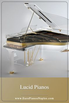 The prestigious heritage of this gold and ebony accented acrylic statement piece by Bluthner, is an interior design statement piece worthy of the most expensive luxury yacht. Le Palais, Palais Royal, Music Furniture, Piano For Sale, Music Studio Room, Best Piano, Digital Piano, Music Aesthetic, Grand Piano