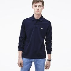 Long-sleeve Lacoste L.12.12 polo Navy Blue