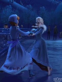 It's good to see Elsa happy. Especially Anna too. Anna and Elsa Princesa Disney Frozen, Disney Princess Frozen, Frozen Movie, Elsa Frozen, Disney Dream, Disney Magic, Disney Art, Disney Memes, Disney Cartoons