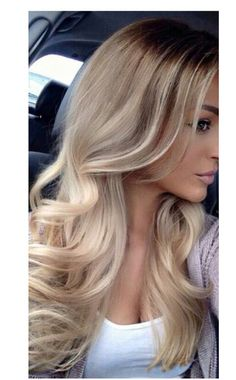 Ombré with cool tones at the ends
