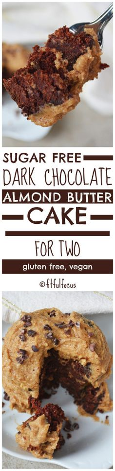 Sugar Free Dark Chocolate Almond Butter Cake For Two | Gluten Free Dessert | Vegan Cake | Single Serving Dessert | Swerve Sweetener | Sponsored | The Recipe Redux | Single Serving Chocolate Cake Recipe | Dessert for Two