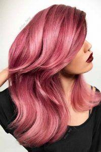 Dare to Dye Insanely Gorgeous Bold Hair Colors pastel rose hair Bold Hair Color, Beautiful Hair Color, Hair Color Highlights, Bold Colors, Pelo Color Morado, Color Fantasia, Rose Gold Hair, Dark Pink Hair, Hair Shades
