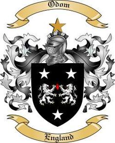 Odom Family Coat of Arms from England