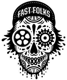 fast folks bikes skull fixed