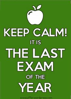 Exam https://juffer.wordpress.com/2013/11/09/eksamen/