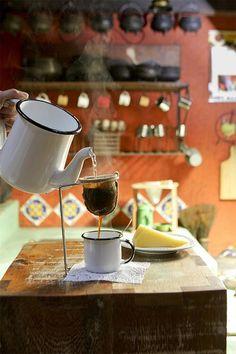 Não curto café, mas café feito assim é muito bom!!!