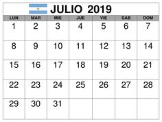Calendario Julio 2019 Grande.50 Best Calendario Julio 2019 Images Festivus 2019