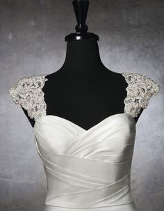 Justin Alexander beaded cap sleeves for your wedding dress