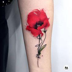 Black Poppy Tattoo, Simple Poppy Tattoo, Poppy Tattoo Small, Watercolor Poppy Tattoo, Poppies Tattoo, Poppy Tattoo Sleeve, Sleeve Tattoos, Tattoos To Cover Scars, Cover Tattoo
