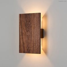 Shown lit with solid Oiled Walnut wood (no metal finish)