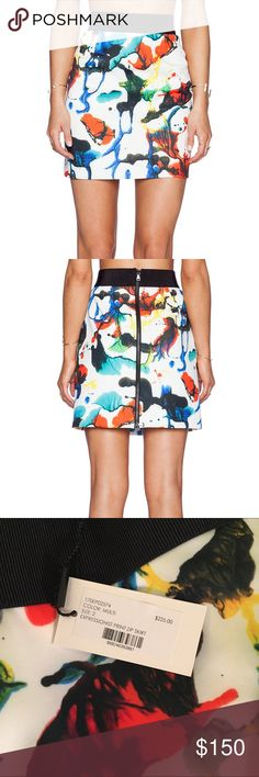 Milly Expressionist Print Zip Skirt In Multi Brand new. Never been worn. Colorful Milly mini skirt with tags! Milly Skirts Mini