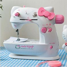 Hello Kitty sewing machine...i don't like hello kitty but i would love to own this