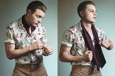 Men's 1920's style fashion. Love the undercut hairstyle too :)