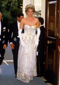 It is the most outstanding outfit designed for the princess of Wales. The dress was designed by Catherine Walker known for designing most of Princess Diana dresses. The dress is made of Silk Chiffon which makes it a very expensive dress. The cost of this dress is estimated to be $125,000. The Princess only wore this dress twice; in 1997 during the Canes Film Festivals and in the year 1989 at Miss Saigon.