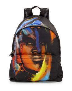 Givenchy Face-Print Nylon Backpack