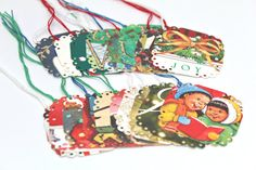 Joyful Christmas Gift Tags Recycled by GwensHomemadeGifts on Etsy