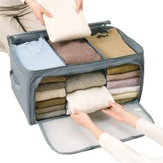 Looking for Bamboo Charcoal Foldable Window Clothes Cloth Storage Organizer Bag Box? Buy it at from Rediff Shopping today! Cash on delivery available(COD) for Bamboo Charcoal Foldable Window Clothes Cloth Storage Organizer Bag Box & other Home Decor. Quilt Storage, Storage Boxes, Bag Storage, Fabric Storage, Blanket Storage, Large Storage Bags, Storage Place, Storage Bags For Clothes, Clothing Storage