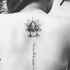Minha primeira tattoo  Flor de lótus  Resiliência