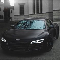 « Matte Black Audi R8 ✨ | Photo via @aaltomotive | #OnlyForLuxury »