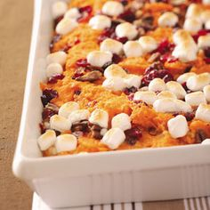 Mallow Sweet Potatoes with Cranberries and OJ..Thanksgiving where are you? I WILL MAKE THIS!!!