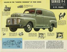 1948 Ford Panel Truck This takes you to a page with all these retro ads, so cool. 1948 Ford Truck, Car Ford, Antique Trucks, Vintage Trucks, Vintage Auto, Vintage Signs, Antique Cars, Ford Motor Company, Toy Trucks