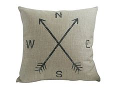 "HOSL Retro Cotton Linen Throw Compass Cushion Cover Pillowcase 18 ""X18 "" 45cm*45cm, Compass HOSL http://www.amazon.com/dp/B01C40EDQ0/ref=cm_sw_r_pi_dp_59D2wb01B0XP2"
