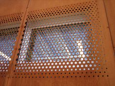 perforated corten steel - Google Search Steel Cladding, House Cladding, Timber Cladding, Cladding Design, Facade Design, Perforated Metal Panel, Recycled Brick, Expanded Metal, Steel Panels