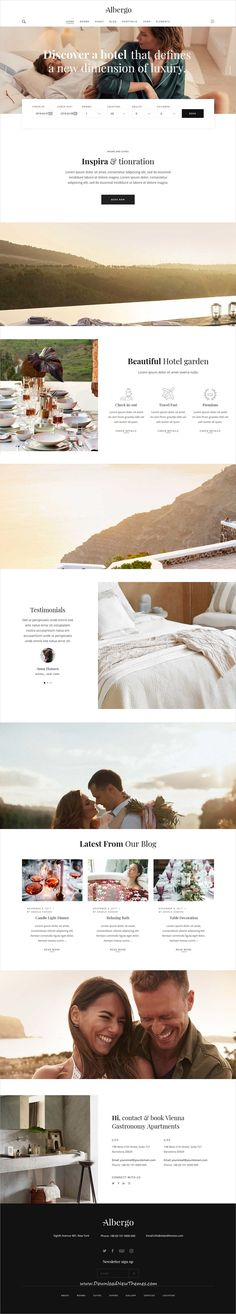 Albergo is clean and modern design 8in1 responsive #WordPress theme for #hotels #resorts and #accommodation booking beautiful website to live preview & download click on Visit