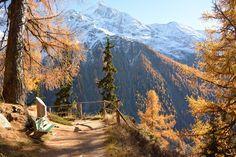 Wanderung Loetschental im Herbst Cool Places To Visit, Places To Go, Swiss Travel, Travel Goals, Holiday Destinations, Trekking, Around The Worlds, Switzerland, Hiking